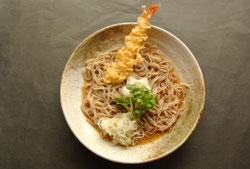 天おろし蕎麦 十割そば 手打ちそば 冷たいそば エビの天ぷら 冷がけ