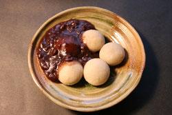 峠のそば団子 そば粉を使ったデザート 北海道 十勝 小豆 自家製餡