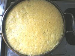ふわっふわ山芋鉄板焼き チーズイン