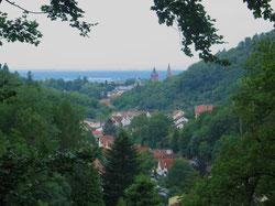 Blick ins Gorxheimertal und Weinheim