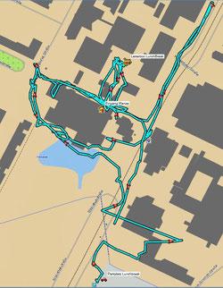 Irrwege, vom GPS aufgezeichnet.