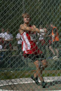 Gerrit Vißer (U18) siegte mit guten 58,46 Metern im Hammerwurf. (Archivfoto)