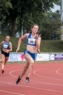 Enie Dangelmaier, hier beim Sprint, ist mehrfach in den Jahresbestenlisten 2020 des DLV gelistet.