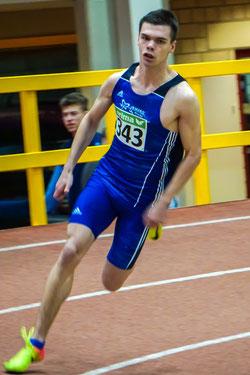Der junge Athlet Simon Heweling ist zum ersten Mal bei Deutschen Meisterschaften dabei und startet über zwei Sprintdisziplinen. (Foto: Roman Buhl)