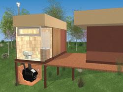 水なし・コンポストユニット別置バイオトイレ WRSタイプ設置イメージ