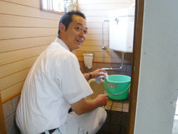 トイレ掃除は私の仕事です