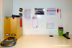 escritorio, panel magnetico - www.aorganizarte.com