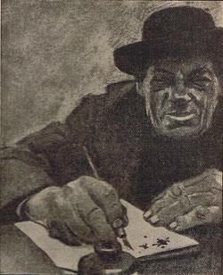 Zeichnung aus Jozef Filsers Briefwexel von Eduard Thöny