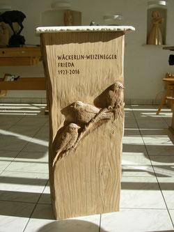 Holzgrabstein Grabsteinaus Holz Holzstele Paul Widmer