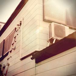 徳島市内 屋根置き エアコン取り付け
