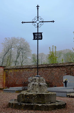 La croix du cimetière d'Hargicourt