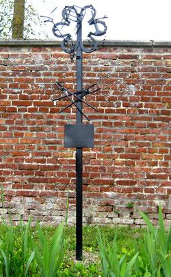 Croix de chemin- Rue du château à Beaucourt-sur-l'Hallue- Ph: Rémy Godbert