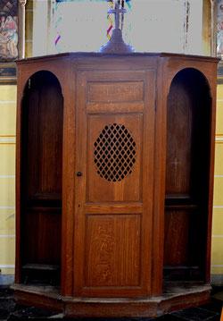 Confessionnal de l'église de Coisy