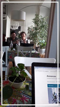 """Avec ma cliente Aurélia Barraux - chambres d'hôtes """"Chez Miss BabA"""" à Colmar)"""