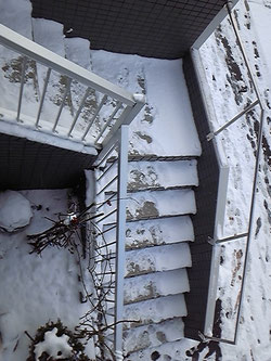 雪階段滑り止めマットばりばり君