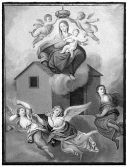Engel tragen das Haus der Maria nach Loreto