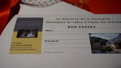 Bon-cadeau Domaine de la Rousselie