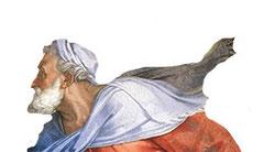 Prophet Ezechiel in der 'Sixtinischen Kapelle'