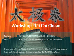 Wu Tai Chi Workshop Kurze Form