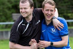 Unser neuer Coach Philipp Meissner freut sich über den Sieg seiner Mannschaft (Bild: fupa.net)