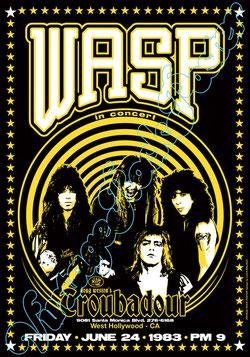 wasp, wasp poster, wasp concert, heavy metal, wasp memorabilia, wasp troubadour