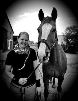 Abschlussprüfung zur Hufpflegerin in der Region um Bensheim. Ich mit meinem Prüfungspferd Fleur