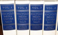 4 tomes de l'Encyclopaedia Universalis