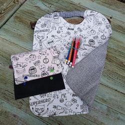 serviettes artisanales a colorier pour enfant avec feutres ultra lavables