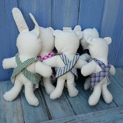doudous en top artisanaux oursons chiens lapin pour enfants