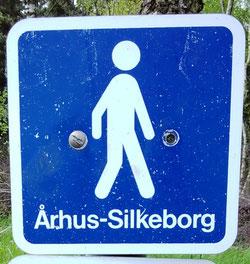 auf dieser Tour folgt der E1 dem Aarhus - SIlkborg Wanderweg