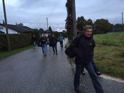 Der Marsch nach Hammerau