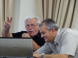 Bernard Barel et Koen van Rangelrooy lors de la journée des directeurs d'écoles de sophrologie cycédienne