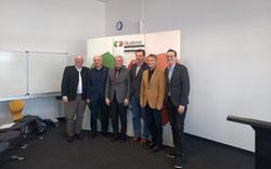 von links: Akademie-Vorsitzender Josef Schönhammer, Dr. Dokoupil, Dr. Eisenreich, H. Krüger, Prof. Kunhardt, Prof. Aumer