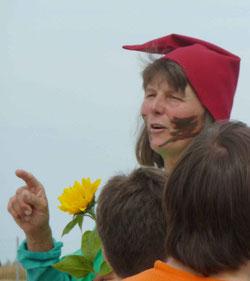 Lebenswerk geschaffen: Sigrid Wolf in Aktion