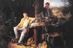 Alexander von Humboldt y Bonpland en la selva amazónica del río Casiquiare Óleo de Eduard Ender, hacia 1850. Fuente: Wikimedia