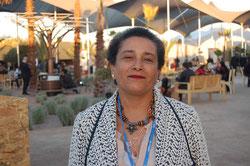 La antropóloga Jamila Bargach, durante la Cumbre del Clima en Marrakech. / SINC