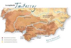 Situación geográfica del Reino de Tartessos. Foto: © Antrophistoria