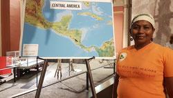 Cándida Derek, del pueblo Miskito, de Honduras, vicepresidenta de la Unidad de Moskitia. Foto: Renata Fontanetto