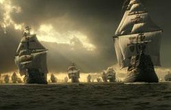 Recreación de la 'Armada Invencible'. FOTO: © Antrophistoria
