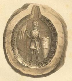 Das Siegel von Albrecht dem Bären