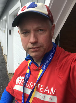 After the BAA 5K in my AT Cure Team shirt
