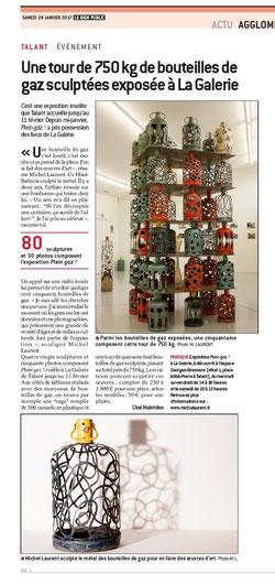 Sculpture sur bouteilles de gaz © Michel LAURENT (MichL)