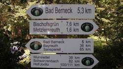 Wandern auf den Jean Paul Weg durch Oberfranken