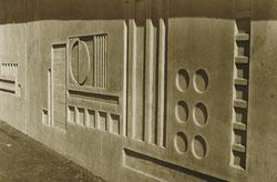 Betonkunst an einer Brück in Lerbach/Harz