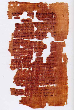 Frammento del Vangelo dell'evangelista Matteo