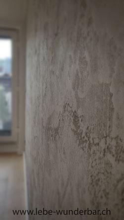 Wandgestaltung design raumklima wunderbar z rich for Farbige wohnzimmerwand