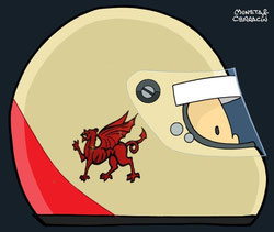 Helmet of Tom Pryce by Muneta & Cerracín