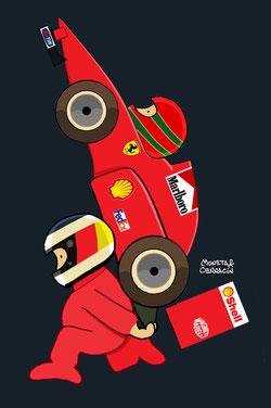 doblete de la Scuderia con la paraja formada por el piloto germano Michael Schumacher y el irlandés Eddie Irvine by Muneta & Cerracín