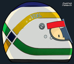 Helmet of Giancarlo Fisichella by Muneta & Cerracín