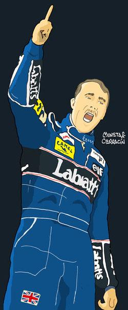 Nigel Mansell  by Muneta & Cerracín - FW10 - Honda de 1985
